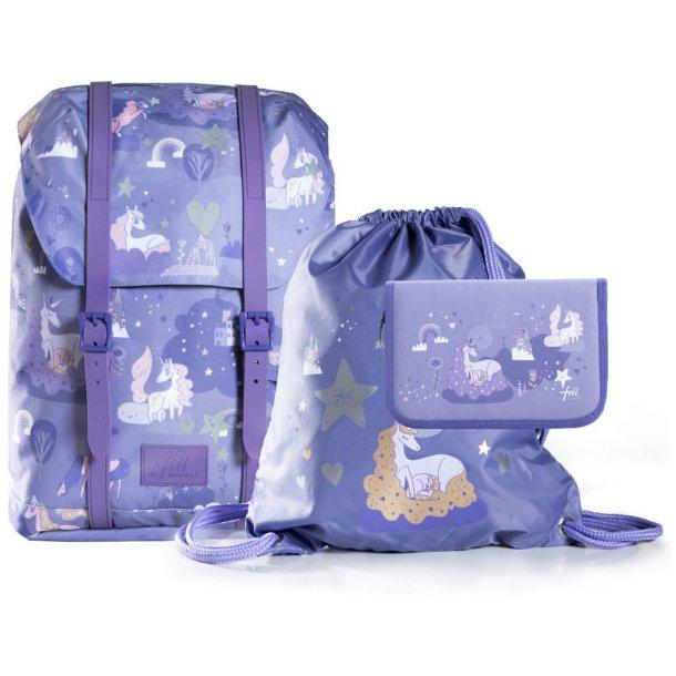Frii Of Norway Skoletaske sæt - Dreamworld Purple